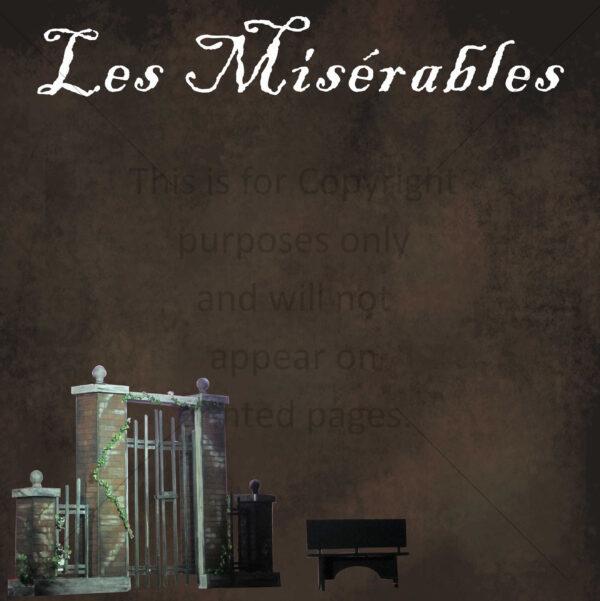 Scrapbook Paper of Les Miserables