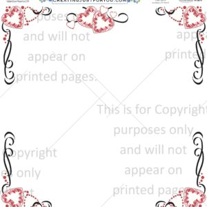Valentines Day Scrapbook Paper