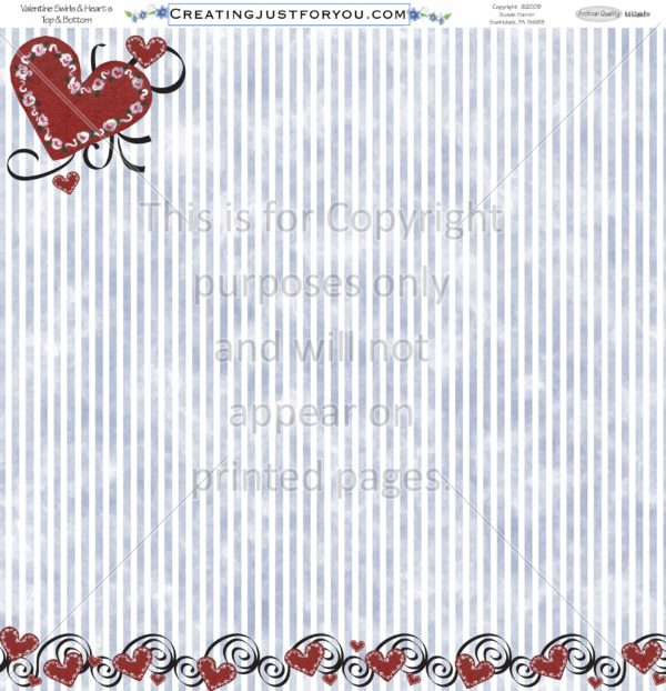 Valentines Day Scrapbook Paper