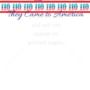 Came to America Scrapbook Paper
