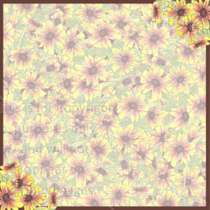 Indian Fire Wheel Flower Scrapbook Paper