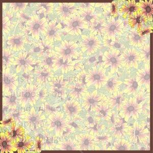 Indian Fire Wheel Flower Scrapbook Paper