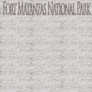 Fort Matanzas Scrapbook Paper