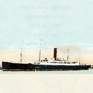 Sweden Ivernia Ship Scrapbook Paper