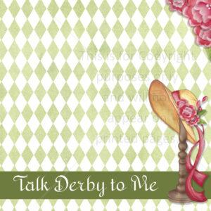 Kentucky Derby Scrapbook Paper