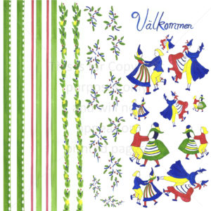 Swede Dancers Scrapbook Paper