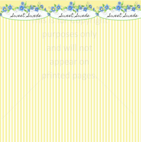 Sweet Swede Scrapbook Paper
