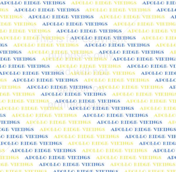 Scrapbook Paper of the Apollo Ridge Vikings