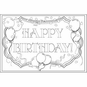 Adult Coloring Birthday Postcard