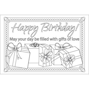 Adult Coloring Birthday Postcard