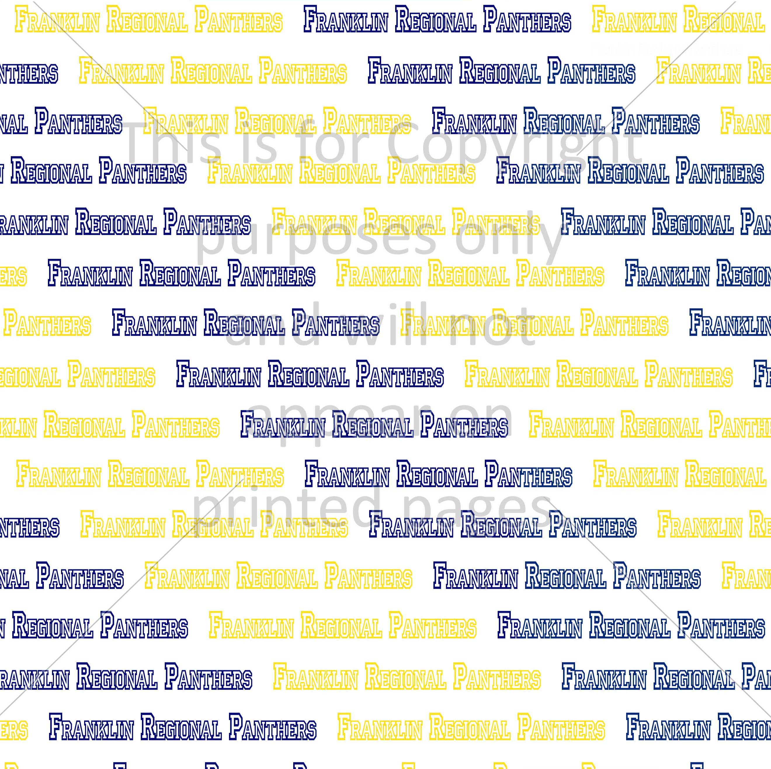 Franklin Regional Scrapbook Paper