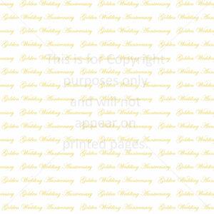 Golden Wedding Anniversary Scrapbook Paper