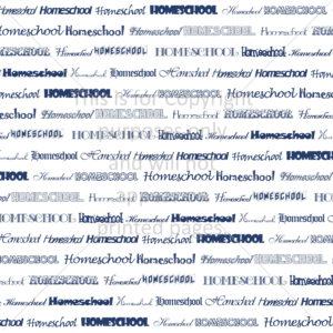 Homeschool Scrapbook Paper