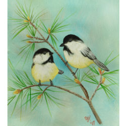 Chickadee Fine Art Acrylic Painting