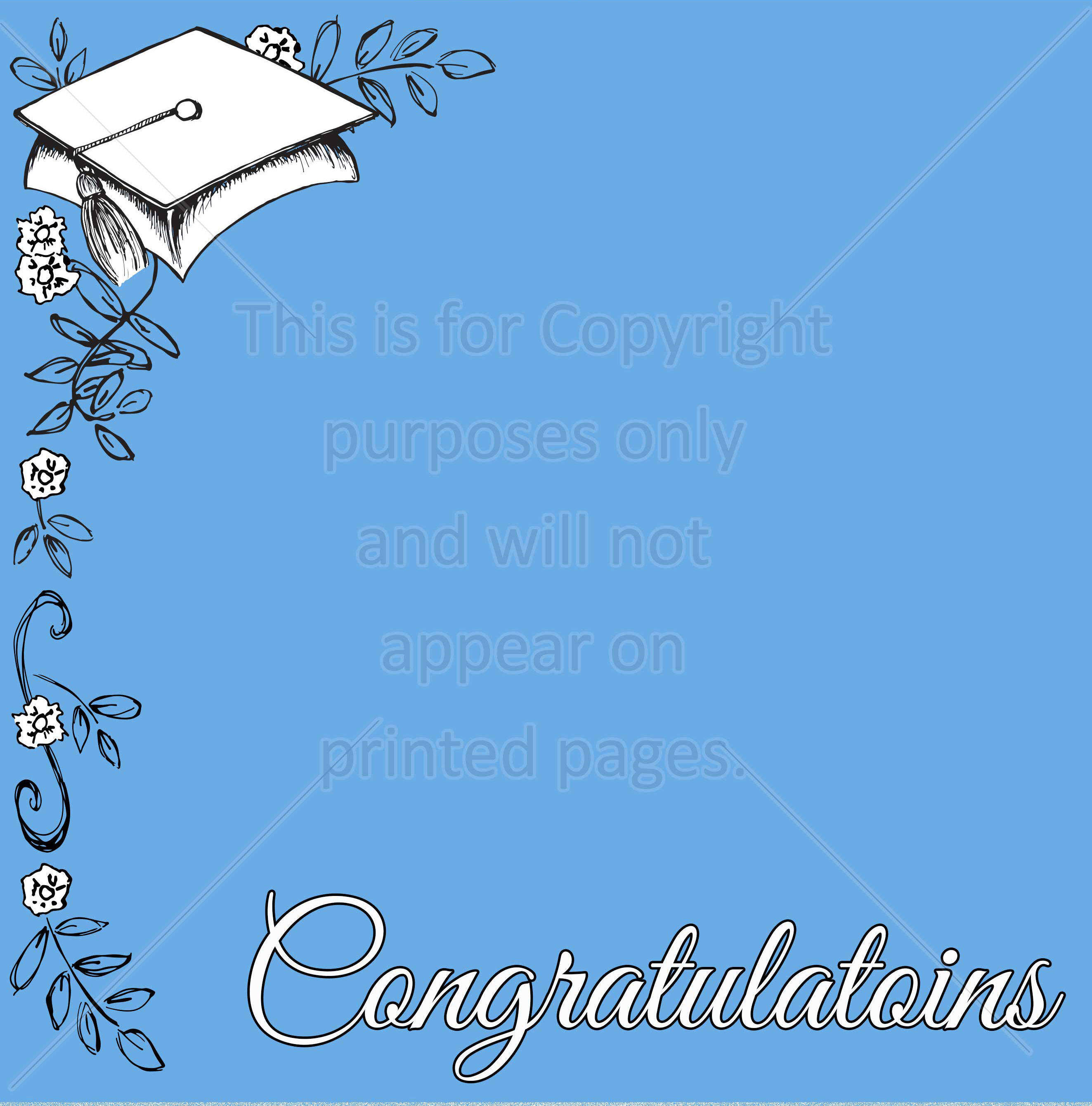 Graduation Scrapbook Paper