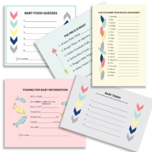 Adventure Theme Baby Shower Game Cards