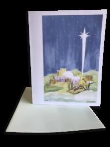 Christmas Nativity Watercolor