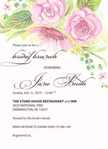 bridal brunch wedding shower invitations