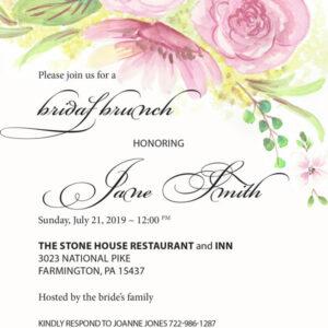 bridal brunch wedding shower invitations