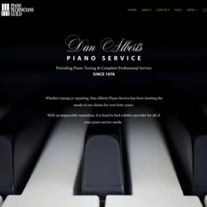 Website for Dan Alberts Piano Service