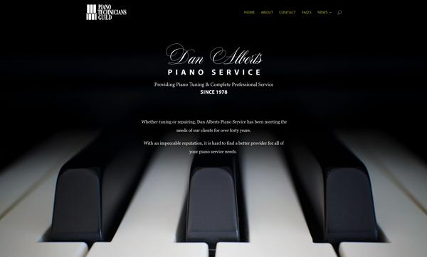 Website for Dan Alberts Piano Service