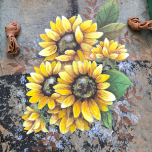 Hand Painted Sunflower Slate