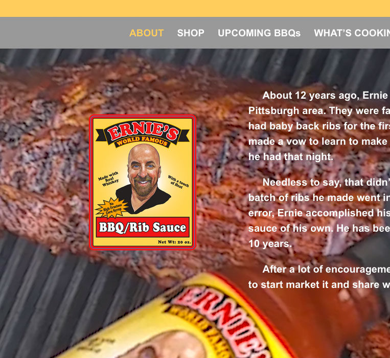 Ernie's World Famous BBQ Sauce