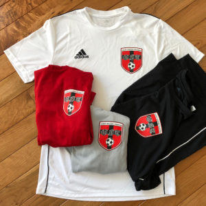 silk screen printing on soccer gear