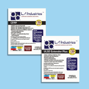 product labels for LA Industries