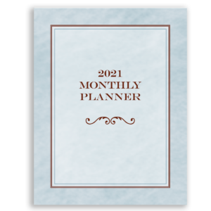 2021 monthly calendar planner
