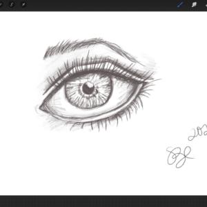 Watch Susan Draw an Eye