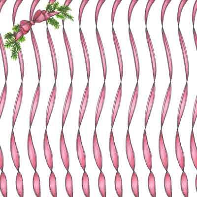 Christmas ribbon scrapbook paper