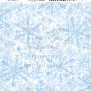 snow scrapbook paper