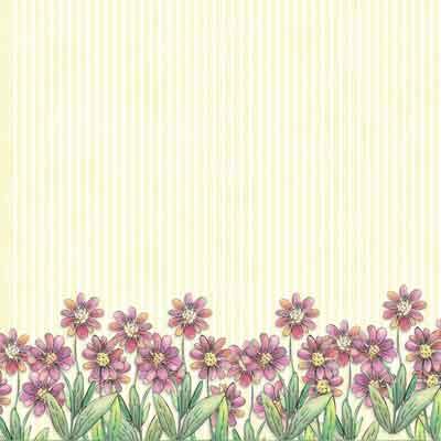 watercolor daisies scrapbook paper
