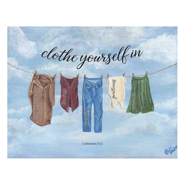 clothe yourself Colossians 3:12