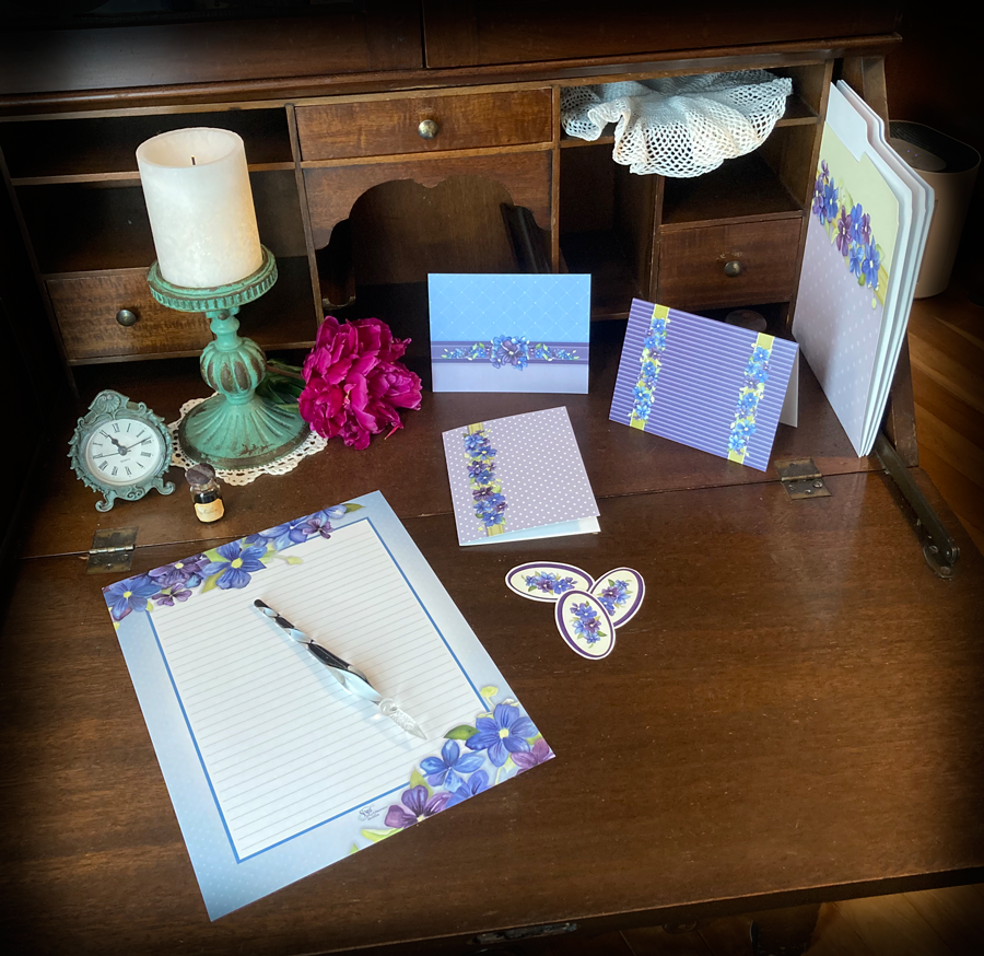 clematis stationery