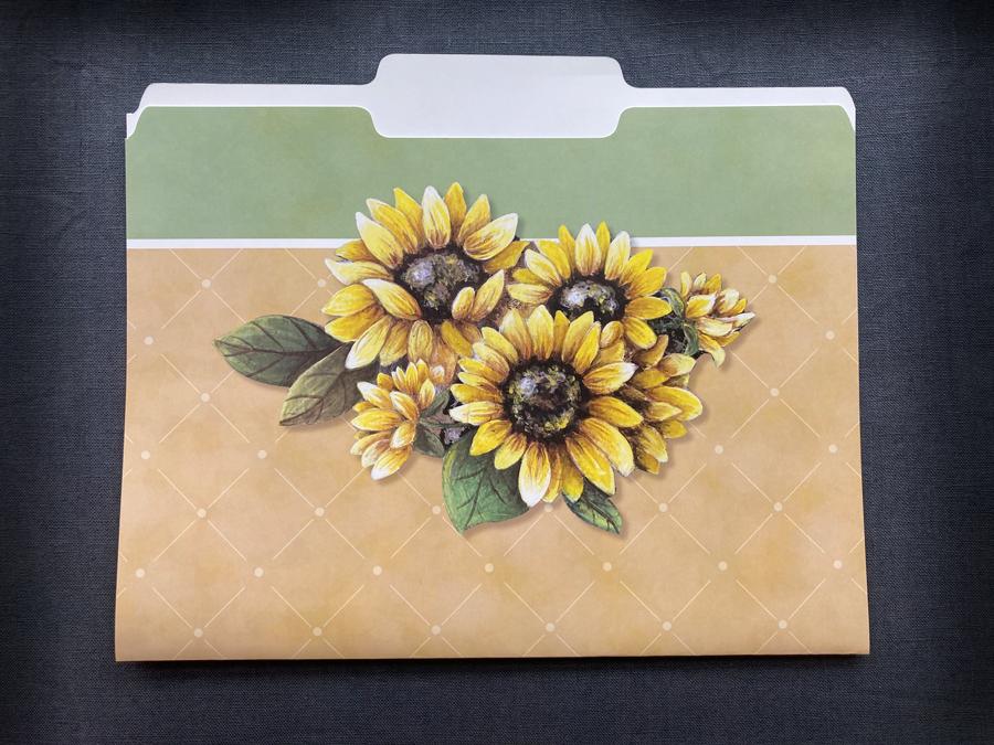file folders sunflower